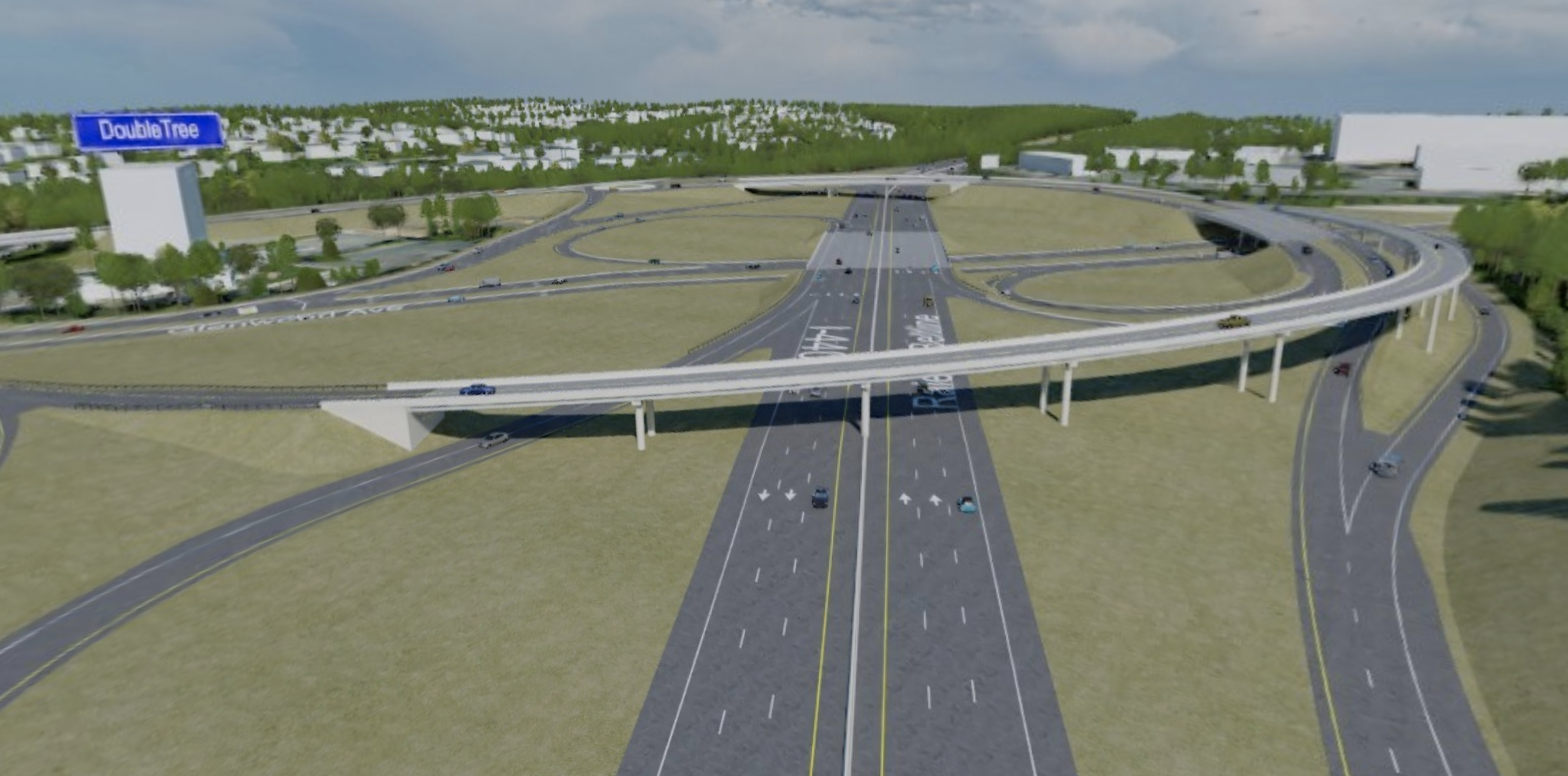 I-440 Glenwood Avenue   3D Visualization   RDV Systems