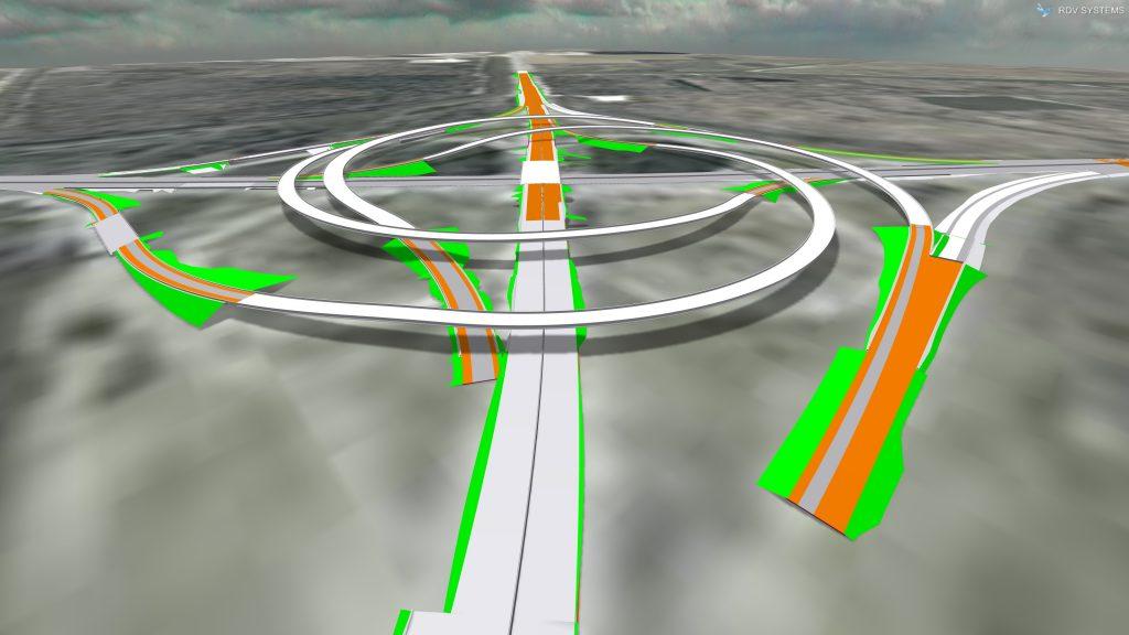 Turbine Interchange Design in OpenRoads by PCI | RDV Systems Case Studies