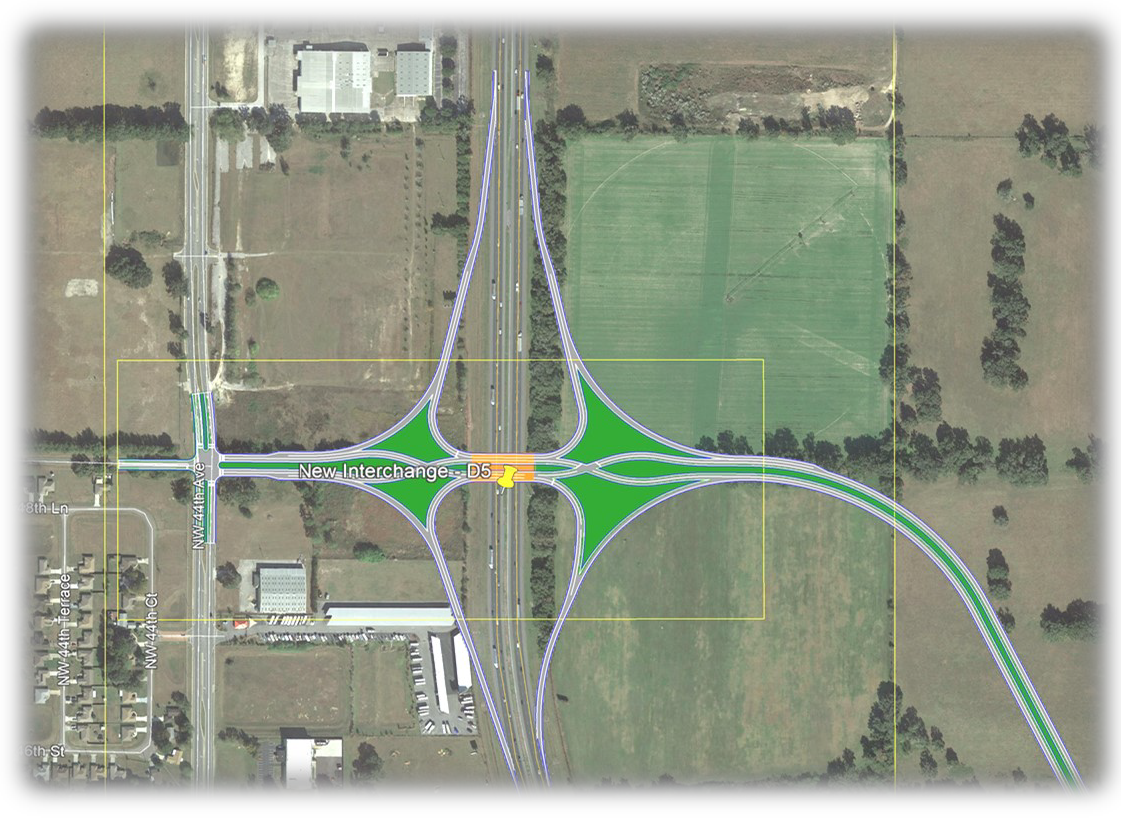 2D map of I-75   Virtual Public Meeting for Infrastructure  RDV Systems