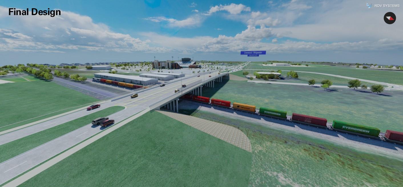 Frontier Parkway Railroad At Grade Bridge Design   RDV Systems